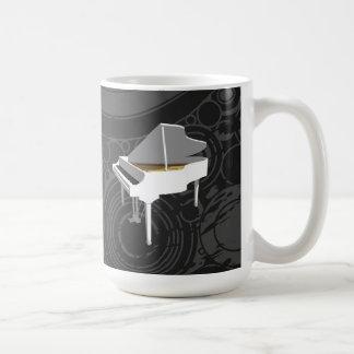 modelo 3D: Piano de cola blanco: Taza de café