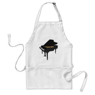 modelo 3D: Piano de cola negro: Delantal