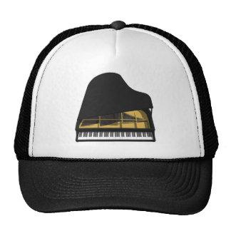 modelo 3D: Piano de cola negro: Gorro