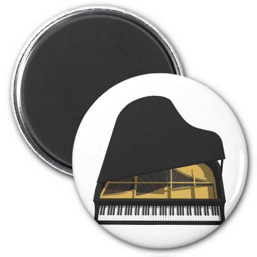 modelo 3D: Piano de cola negro: Iman Para Frigorífico