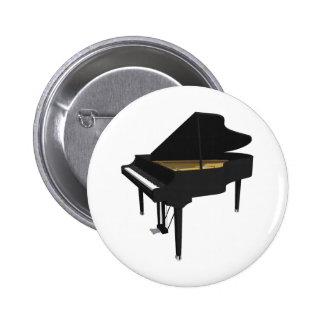 modelo 3D: Piano de cola negro: Pin Redondo 5 Cm