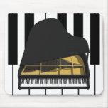 modelo 3D: Piano de cola negro: Alfombrillas De Ratón