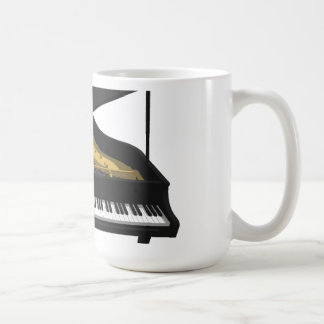 modelo 3D: Piano de cola negro: Taza Básica Blanca