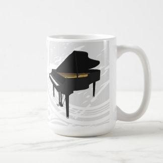 modelo 3D: Piano de cola negro: Taza de café