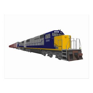 modelo 3D: Tren de carga: Ferrocarril: Postales
