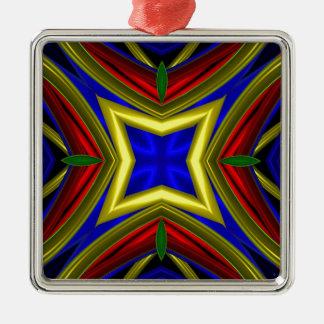 Modelo 470 adorno cuadrado plateado