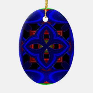 Modelo 473 adorno ovalado de cerámica
