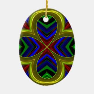 Modelo 474 adorno ovalado de cerámica