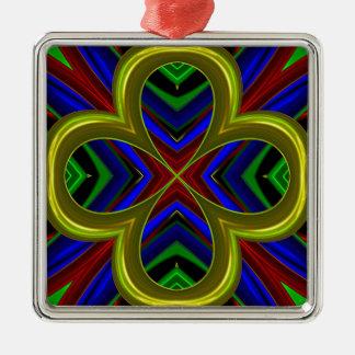 Modelo 474 adorno cuadrado plateado