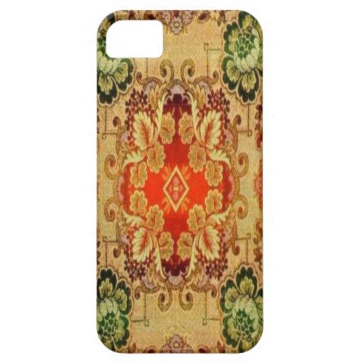 Modelo 5989 de la alfombra del vintage iPhone 5 fundas