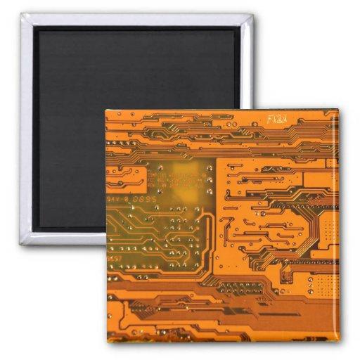 Modelo 5 de la placa de circuito imán cuadrado