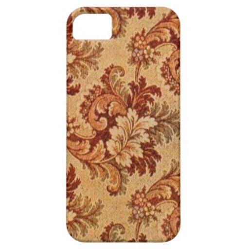 Modelo 6058 de la alfombra del vintage iPhone 5 funda