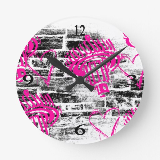 Modelo 68 del Grunge Relojes De Pared
