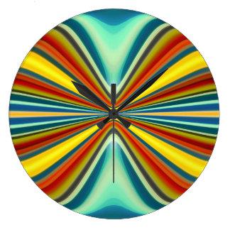 Modelo 8 de la furia del arte abstracto reloj redondo grande