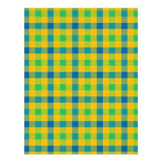 """Modelo a cuadros abstracto colorido folleto 8.5"""" x 11"""""""