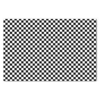 Modelo a cuadros blanco y negro del tablero papel de seda pequeño