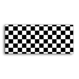 Modelo a cuadros blanco y negro sobre