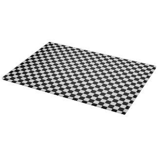 Modelo a cuadros blanco y negro tablas para cortar