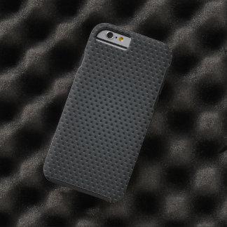 Modelo a cuadros de los agujeros metálicos funda para iPhone 6 tough