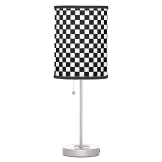 modelo a cuadros del black&white lámpara de mesilla de noche