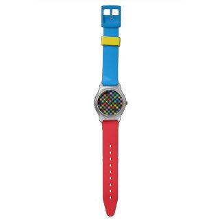 modelo a cuadros del color reloj
