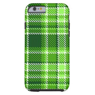Modelo a cuadros del color verde funda resistente iPhone 6