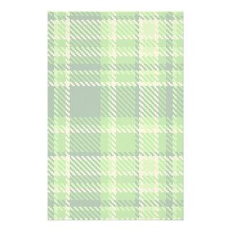 Modelo a cuadros del color verde papelería personalizada