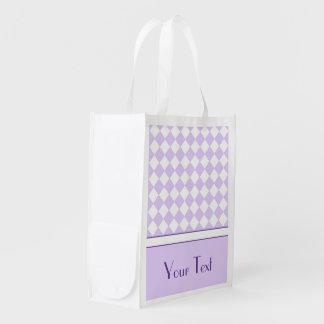 Modelo a cuadros del diamante púrpura conocido ada bolsa para la compra