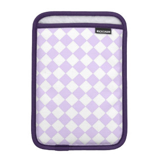 Modelo a cuadros del diamante púrpura funda para iPad mini