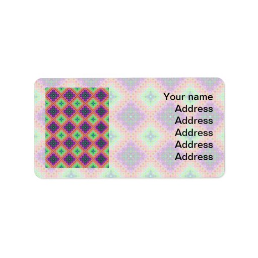 Modelo a cuadros del fractal de la púrpura y de la etiqueta de dirección