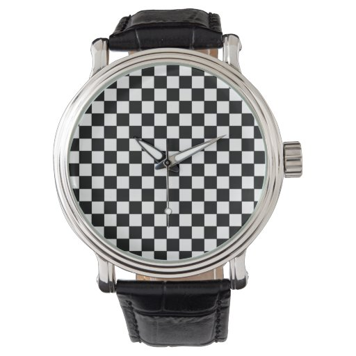 modelo a cuadros elegante moderno relojes de pulsera