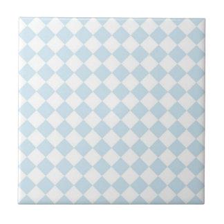 Modelo a cuadros en colores pastel del diamante az azulejo cuadrado pequeño