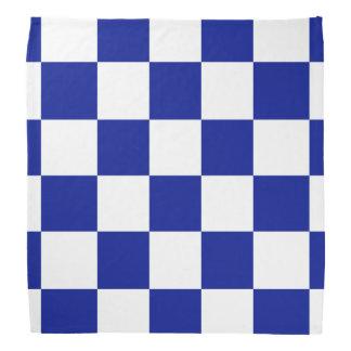 Modelo a cuadros real del azul y blanco bandanas