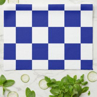 Modelo a cuadros real del azul y blanco toalla de cocina