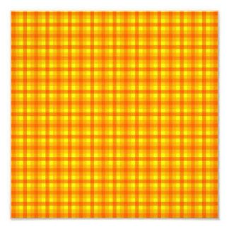 Modelo a cuadros retro amarillo-naranja y rojo cojinete