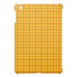 Modelo a cuadros retro amarillo-naranja y rojo iPad mini carcasas