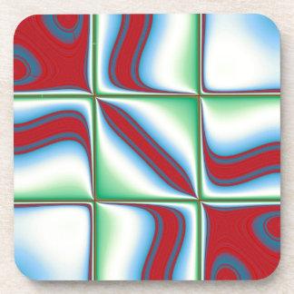 Modelo a cuadros rojo, azul y verde elegante moder posavasos
