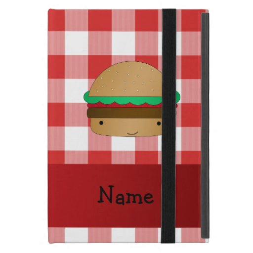 Modelo a cuadros rojo personalizado de la hamburgu iPad mini coberturas