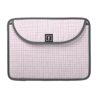 Modelo a cuadros rosa claro y blanco de la tela funda para macbook pro