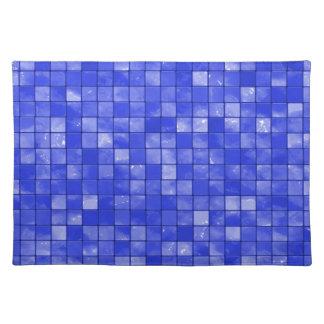Modelo abigarrado de la teja del azul de cobalto mantel