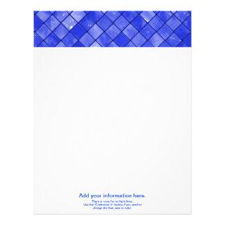 Modelo abigarrado de la teja del azul de cobalto membrete a diseño