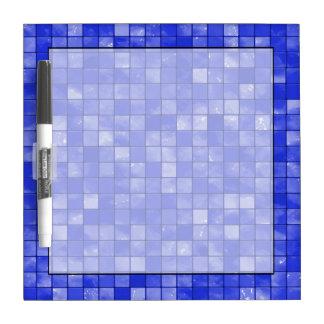 Modelo abigarrado de la teja del azul de cobalto pizarra blanca