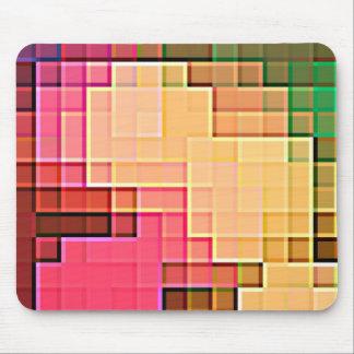 Modelo abstracto 1 del pixel alfombrillas de ratones