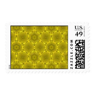 Modelo abstracto amarillo del círculo envio