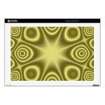 Modelo abstracto amarillo portátil 43,2cm skins