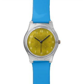 Modelo abstracto amarillo relojes de pulsera