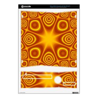 Modelo abstracto amarillo rojo xbox 360 s calcomanía