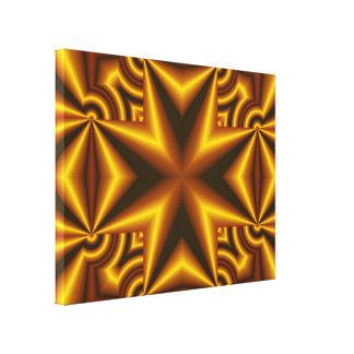 Modelo abstracto amarillo y negro impresión en lona