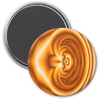 Modelo abstracto anaranjado imán redondo 7 cm