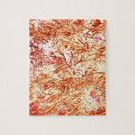 modelo abstracto anaranjado invertido del succulen puzzles con fotos